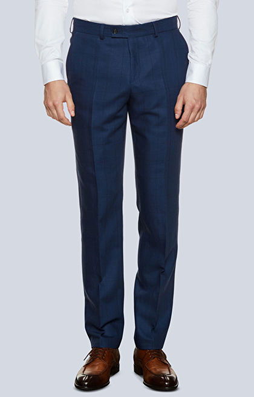 Klasyczne spodnie w szeroką kratę