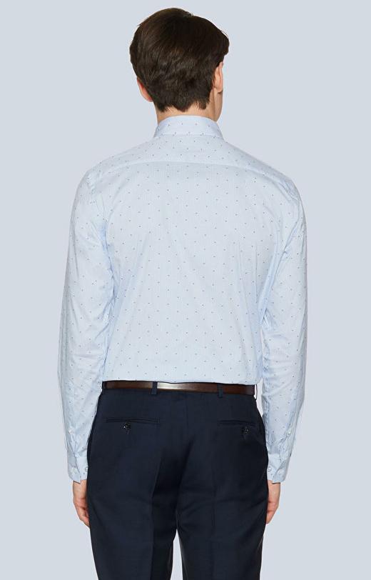 Dopasowana koszula w paski, kołnierz kryte button-down