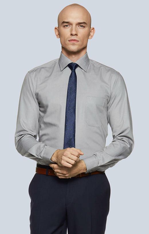 Koszula z kieszonką, włoski kołnierz