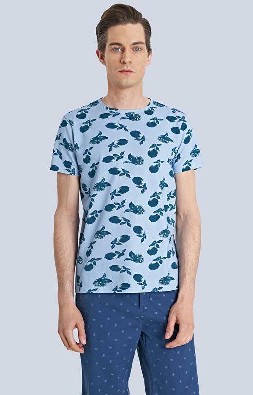 T-shirt z nadrukiem w cytryny