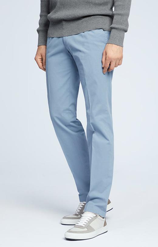 Spodnie ze strukturalnej bawełny