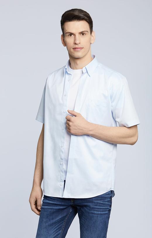 Koszula z krótkim rękawem, klasyczny kołnierz