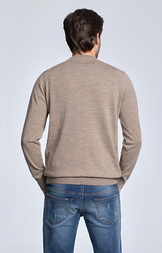 Lekki, ekologiczny sweter z dodatkiem wełny