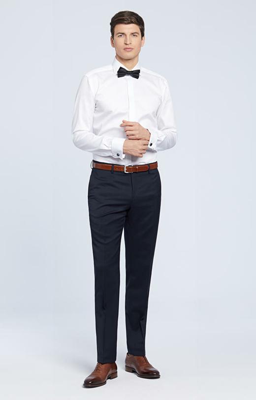 Elegancka koszula z krytą plisą