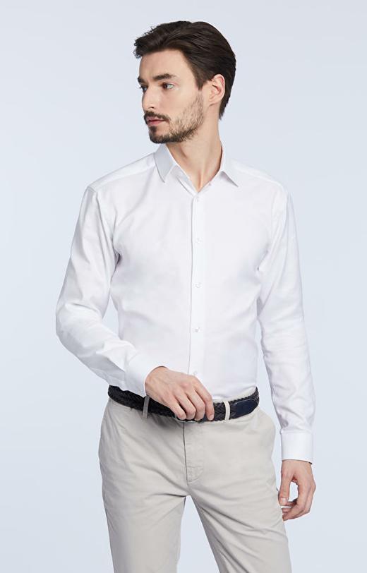 Elegancka koszula, kołnierz włoski