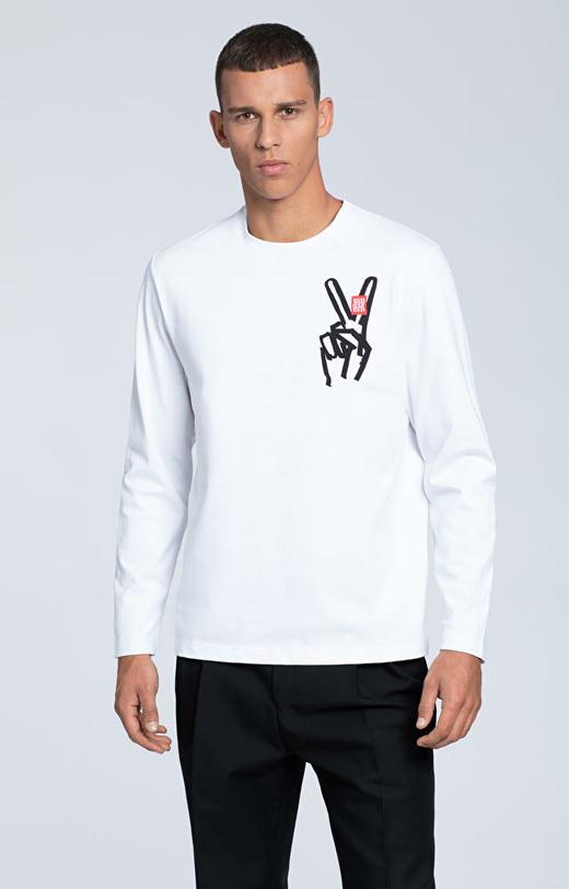 Koszulka z długim rękawem i motywem graficznym