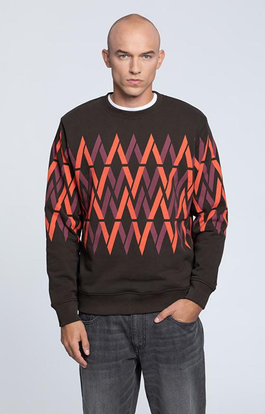 Bluza typu round-neck z monogramem