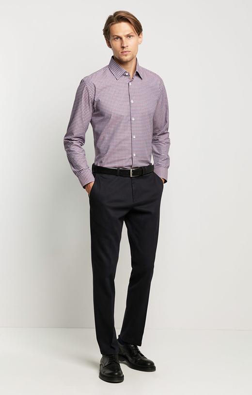 Elegancka koszula w drobną kratę