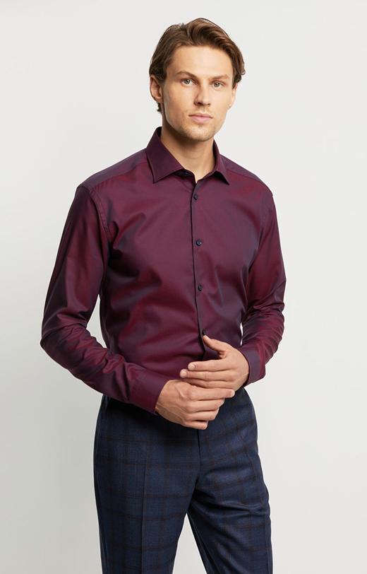 Elegancka koszula z prążkowanej tkaniny