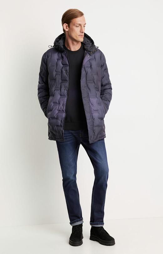 Długa pikowana kurtka