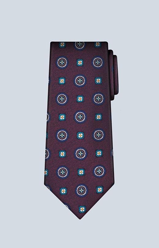 Jedwabny krawat z dodatkiem bawełny