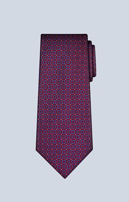 Jedwabny krawat w regularny wzór