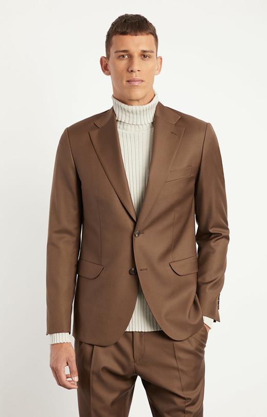 Luźny garnitur wełniany