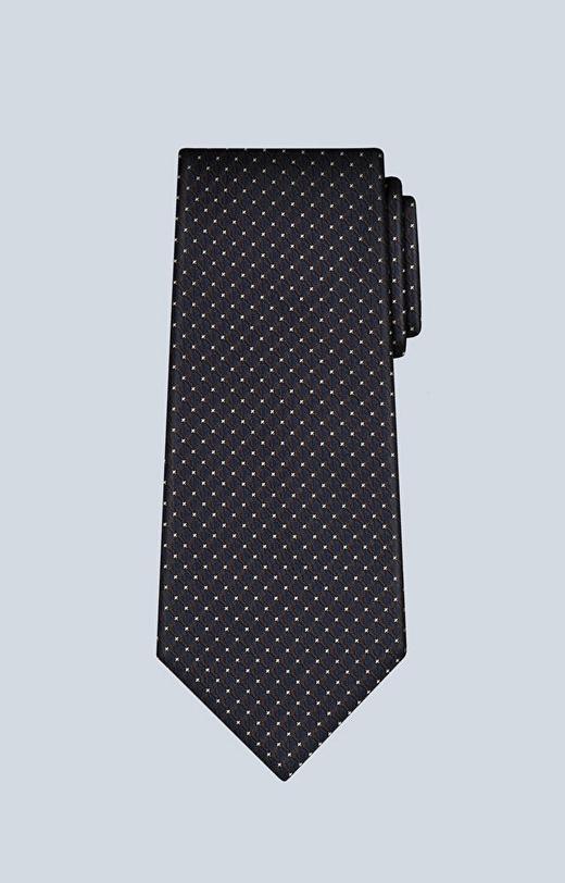Jedwabny krawat z geometrycznym wzorem