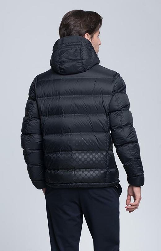 Pikowana kurtka puchowa z kapturem