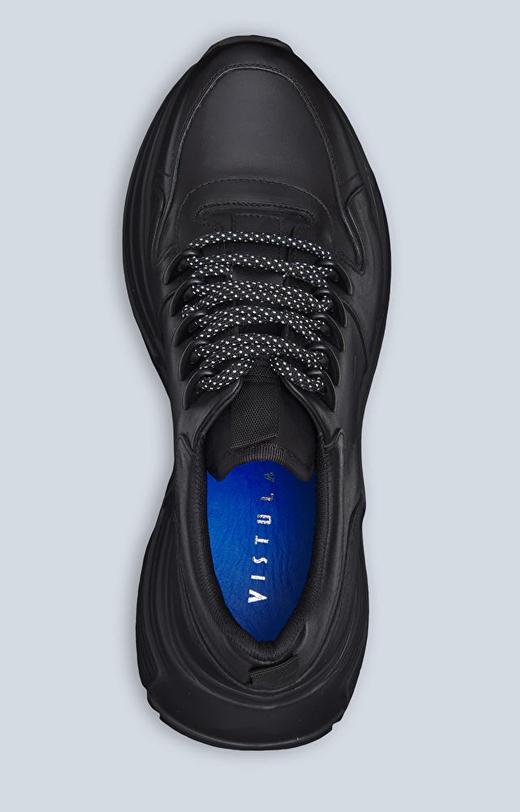 Skórzane sneakery na masywnej podeszwie