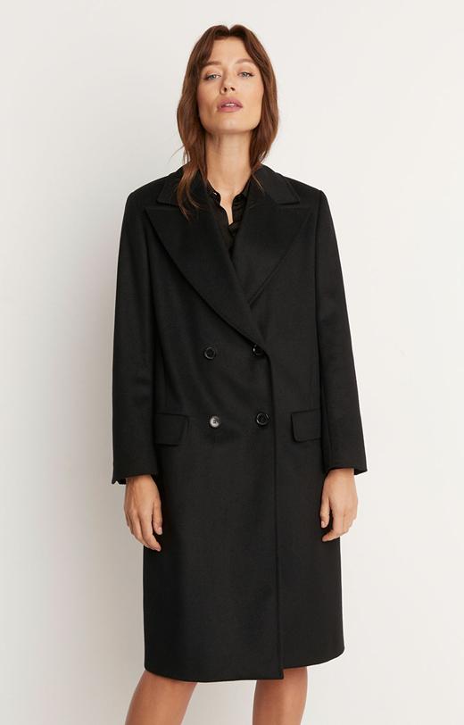 Wełniany płaszcz z dodatkiem kaszmiru