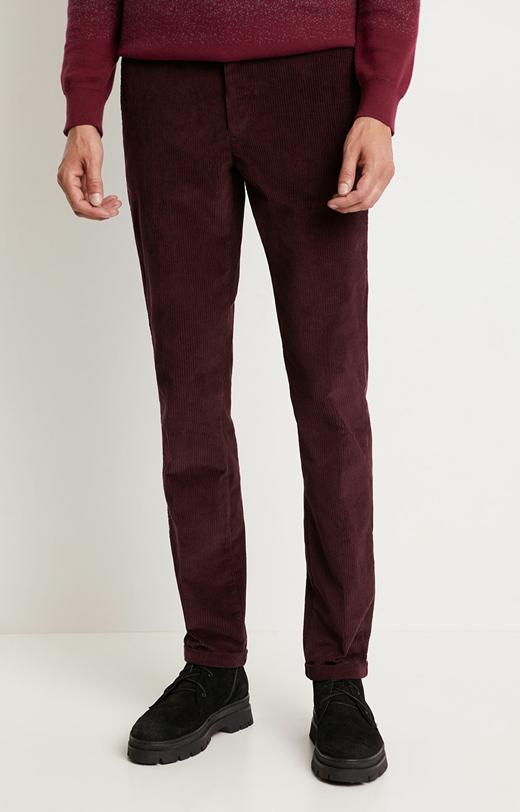 Spodnie sztruksowe w drobny prążek