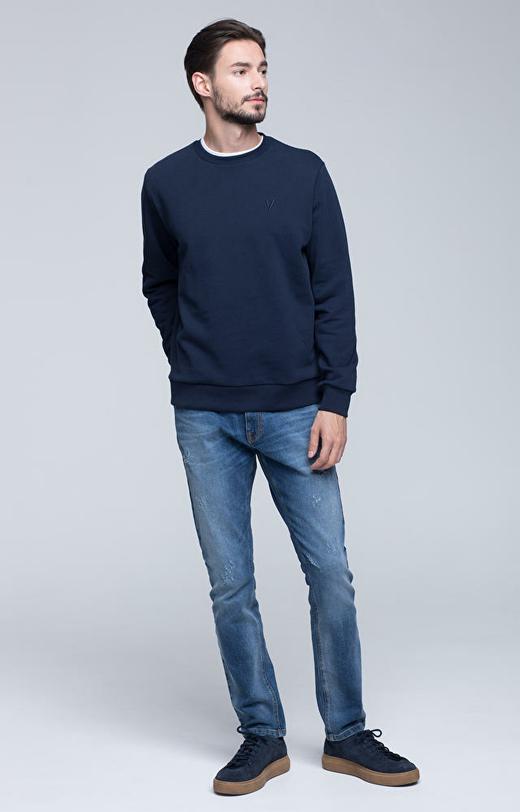 Bluza typu round-neck z logo