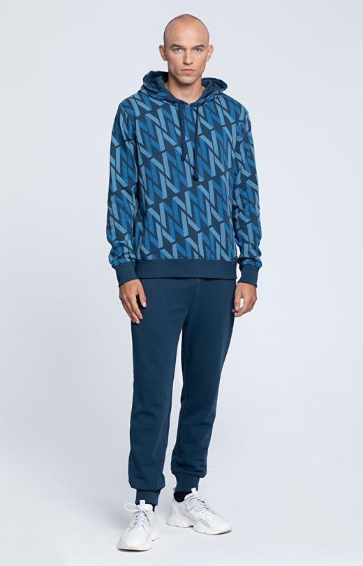 Bluza z kapturem, w monogram