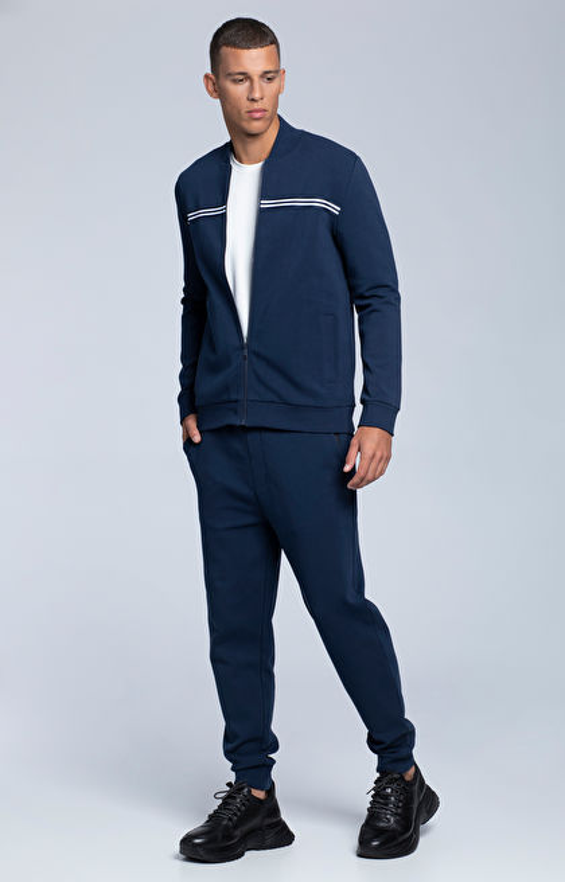 Rozpinana, sportowa bluza z bawełny pima