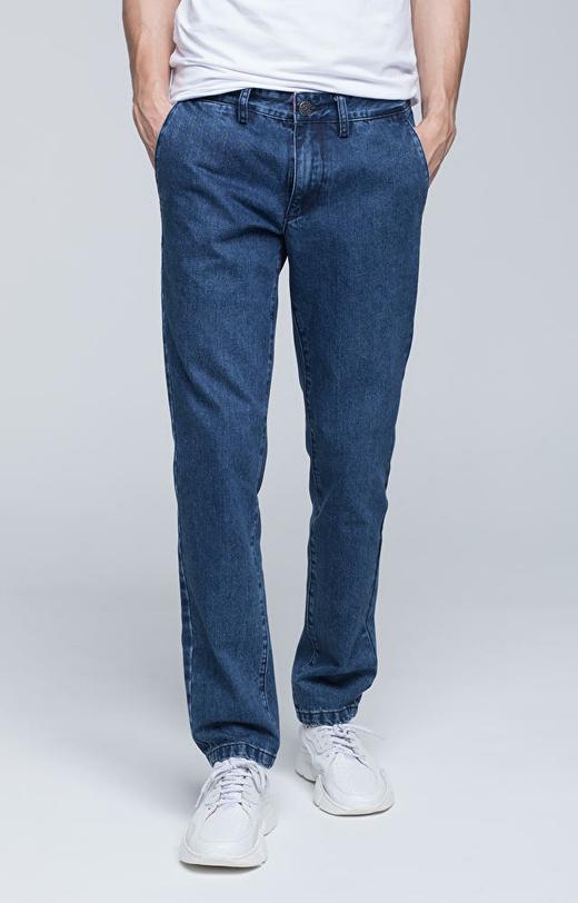 Chinosy jeansowe