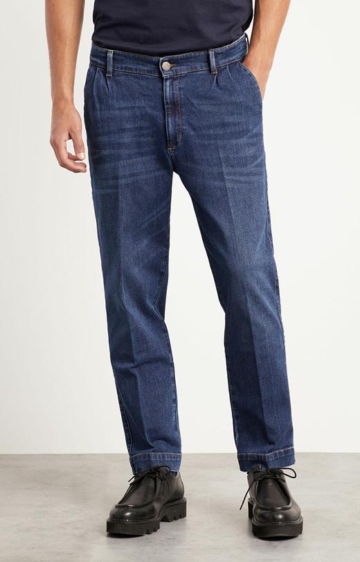 Jeansy z zaszewkami