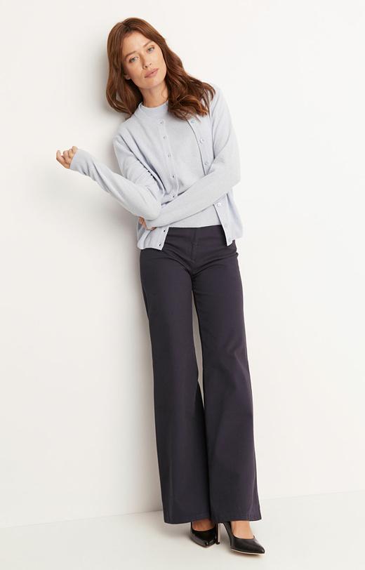 Eleganckie spodnie z szeroką nogawką