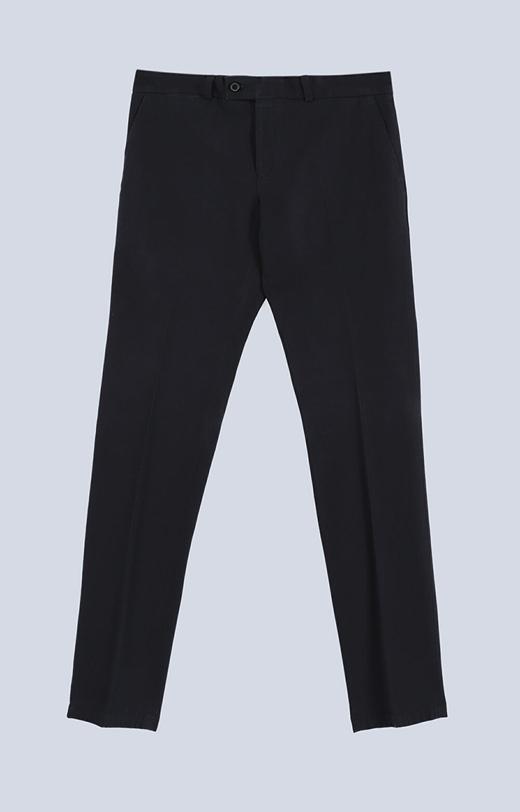 Eleganckie spodnie bawełniane w delikatny diagonal
