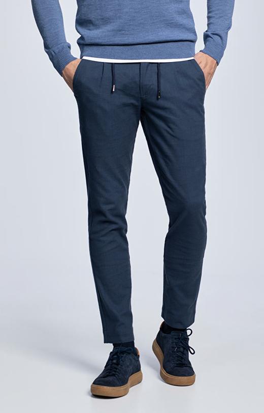 Bawełniane spodnie w kratę