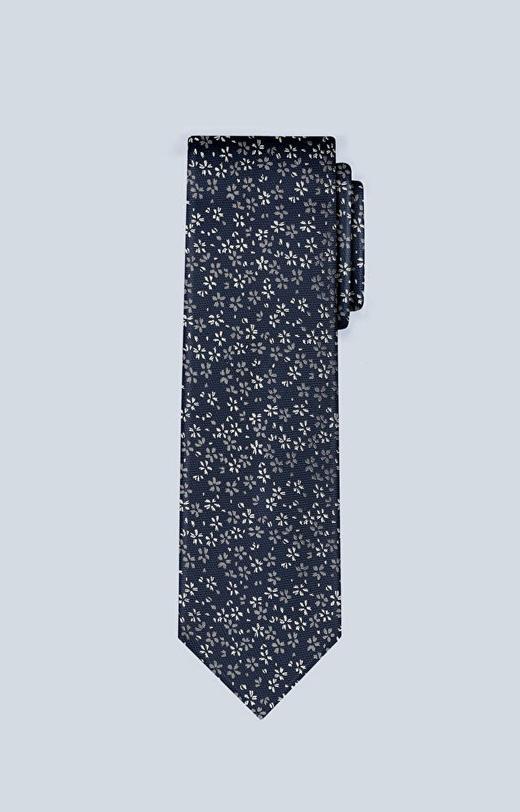 Jedwabny krawat we wzór kwiatowy
