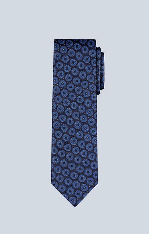 Jedwabny krawat z wzorem