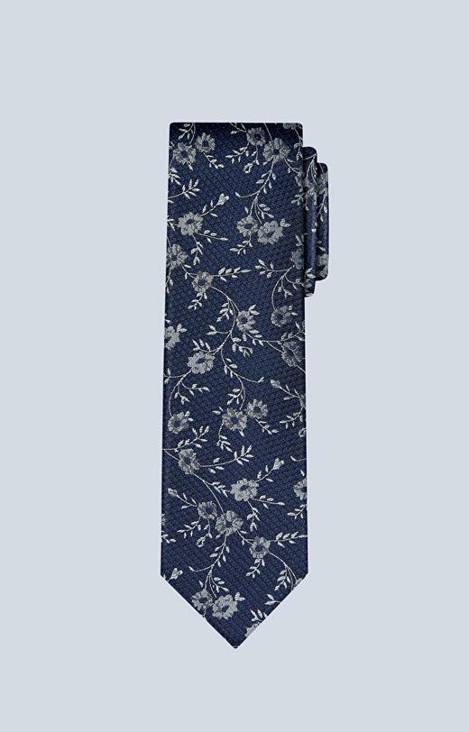 Jedwabny krawat w kwiatowy wzór