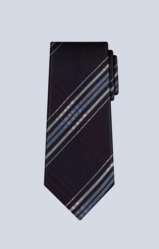 Krawat z dodatkiem jedwabiu