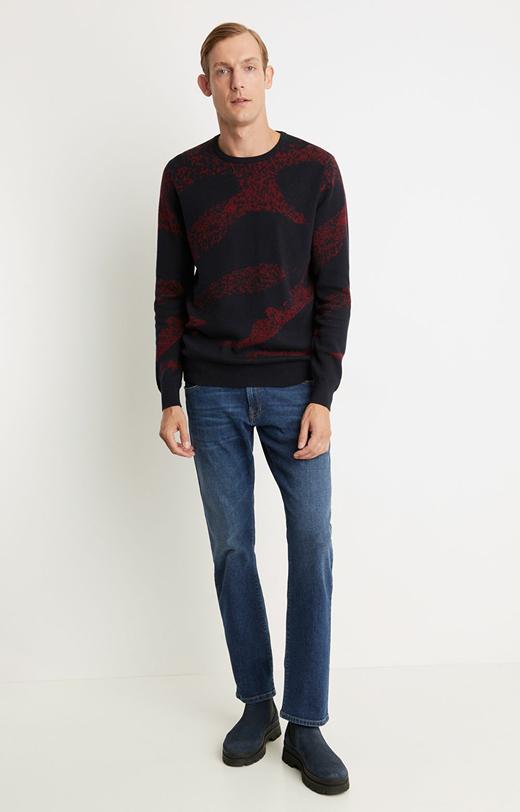 Sweter typu round-neck