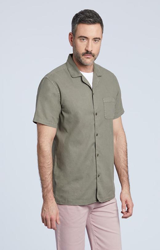 Koszula z krótkim rękawem, z ozdobną kieszenią