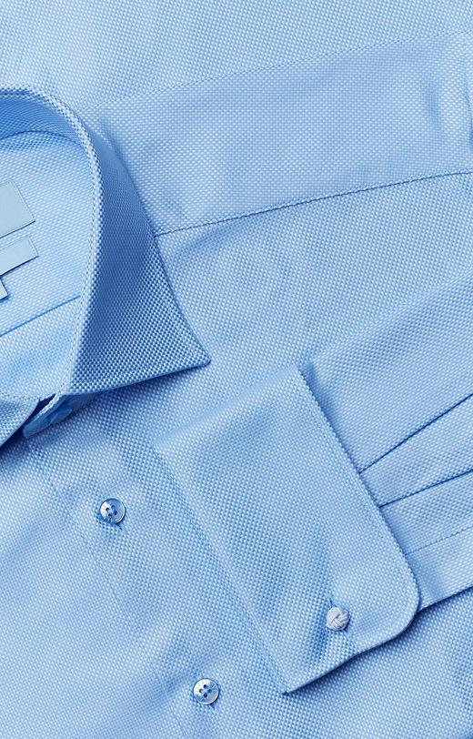 Koszula na spinki z delikatną strukturą, półwłoski kołnierz