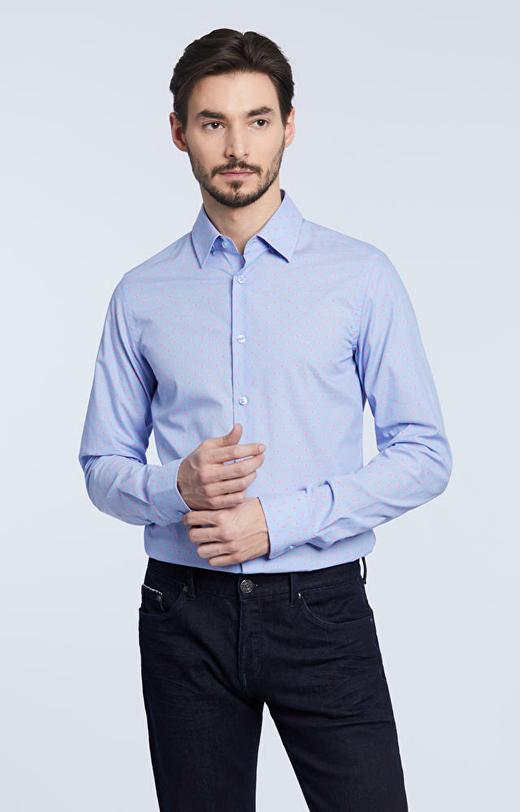 Dopasowana koszula w mikrowzór