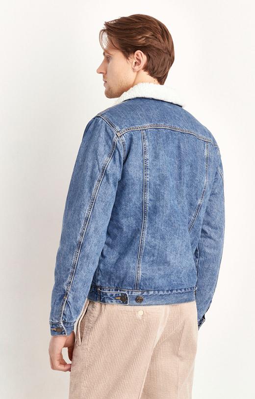 Kurtka jeansowa z imitacją kożucha
