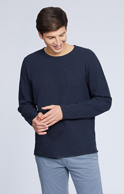 Bawełniany sweter round-neck