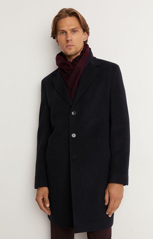Płaszcz w delikatny deseń