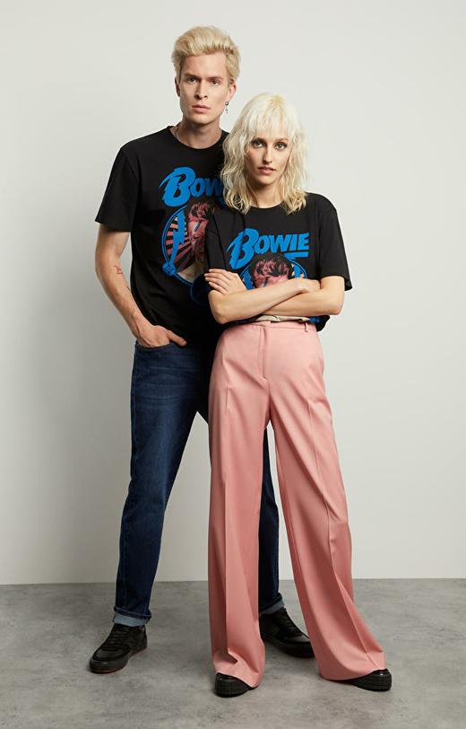 Luźne spodnie damskie Dawid Bowie