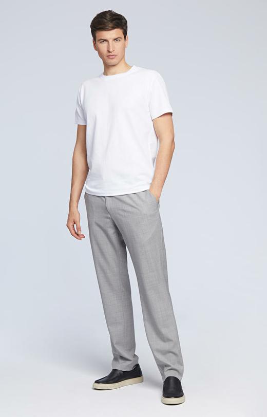 Luźne spodnie z wełny