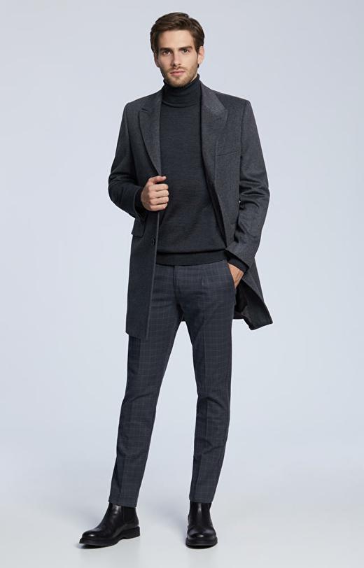 Płaszcz z wełny z dodatkiem kaszmiru