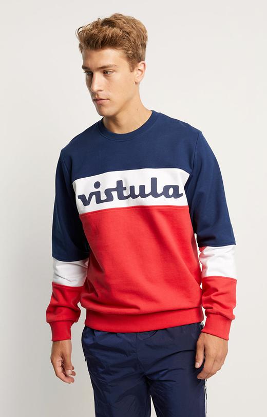 Dwukolorowa bluza z logo Vistula Retro