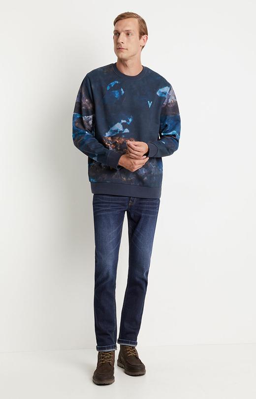 Printowana bluza z motywem zorzy polarnej