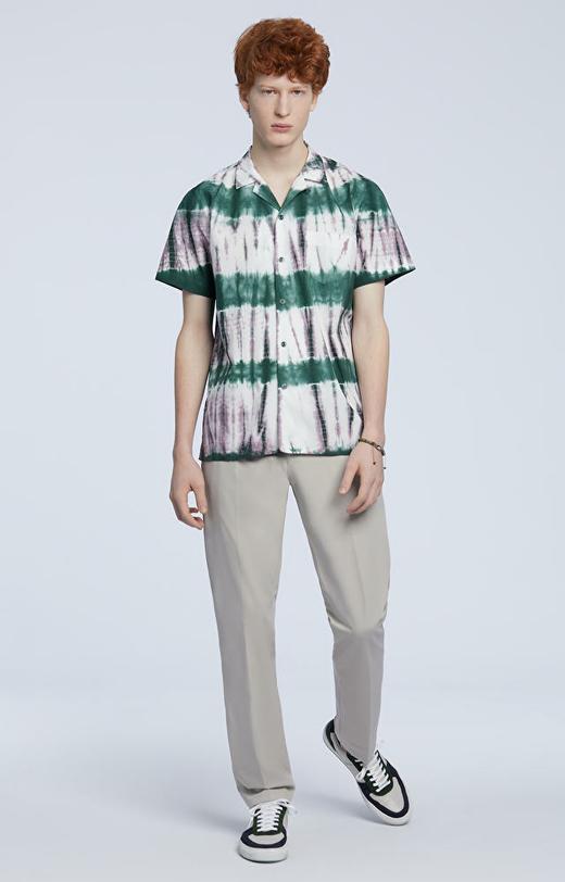 Koszula z krótkim rękawem farbowana ręcznie