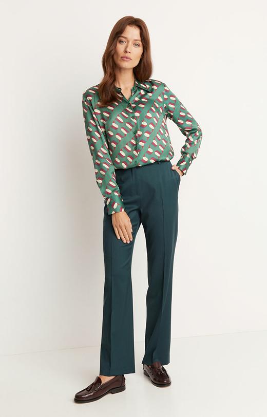 Eleganckie spodnie z prostą nogawką