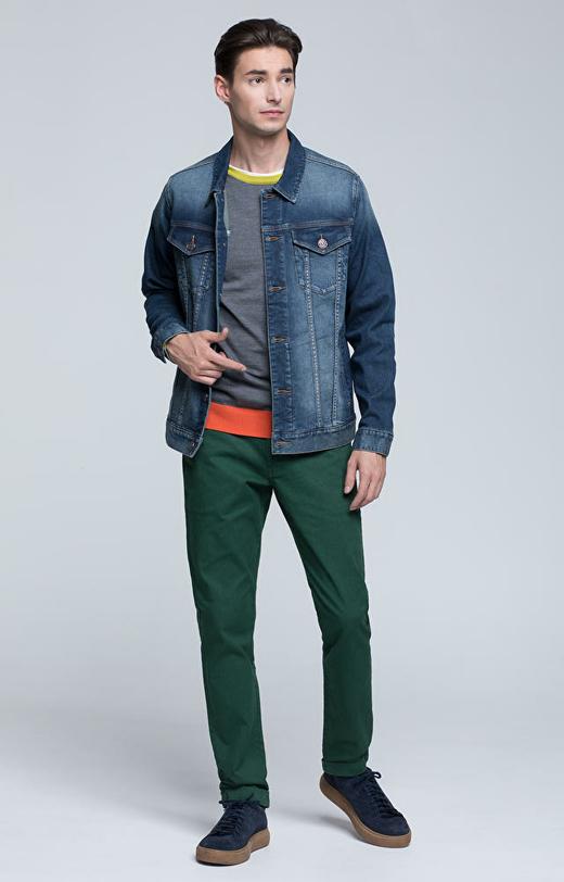 Spodnie z bawełnianej tkaniny