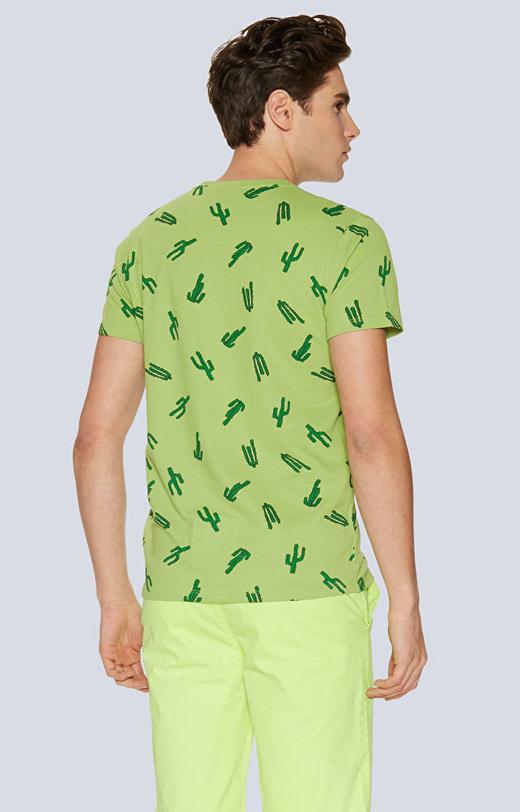T-shirt z nadrukiem w kaktusy